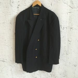BROOKS BROTHERS NAVY BLAZER WITH GOLD BUTTONS 48R